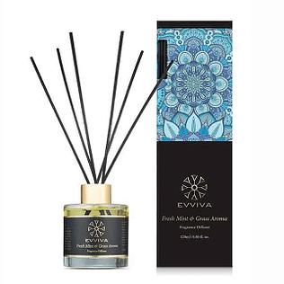 Evviva Black Diffuser – Fresh Mint & Grass Aroma