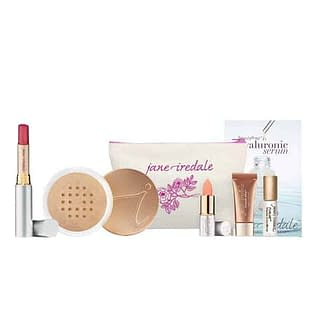Jane Iredale Base Loose Mineral Powder + Just Kissed Lip Plumper Set
