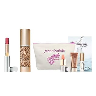 Jane Iredale Liquid Foundation + Just Kissed Lip Plumper Set