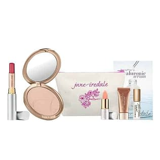 Jane Iredale PurePressed Base + Just Kissed Lip Plumper Set