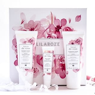 Lilaroze De Rose Face and Lip Care Set